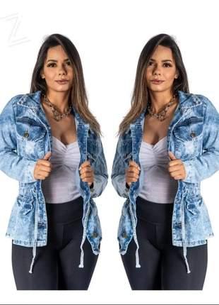 Parka jeans, jaqueta jeans desfiada, max jaqueta, jaqueta premium