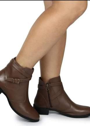 8002 - bota feminina - botinha feminina - coturno ziper - coturno casual