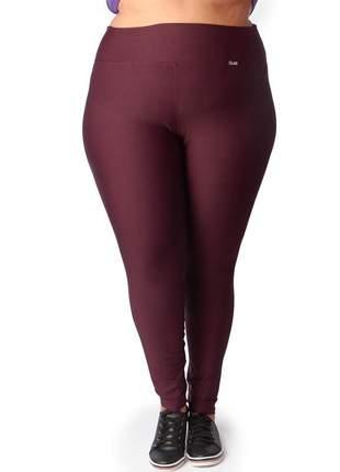 Calça legging modeladora plus size suplex com cintura alta bordô