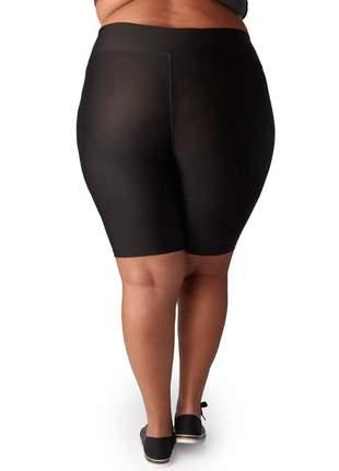 Bermuda fitness com cintura alta plus size preta