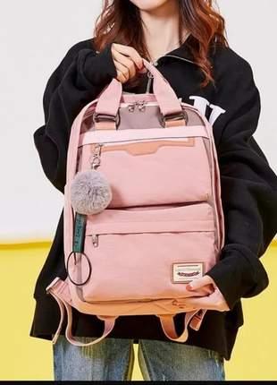 Moda mochila bolsa escola viagem notebook alto qualidade