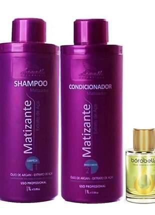Kit matizante aramath shampoo e condicionador 2x1000ml