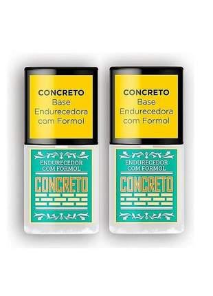 2 base concreto endurecedor de unha top beauty 7ml