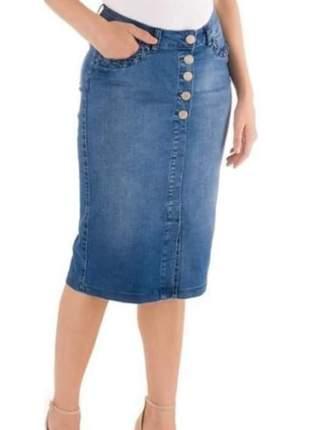 Saia jeans midi loony tamanhos p-40/m-42 e 44/ g-46/gg-48
