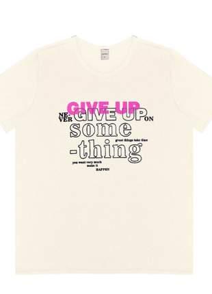 T-shirt off white escrito feminino 6154235022