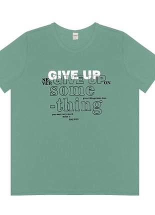 T-shirt verde escrito feminino 61542356054