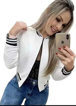 Jaqueta blusa de frio feminina jaqueta bomber matelasse casaco  envio imediato