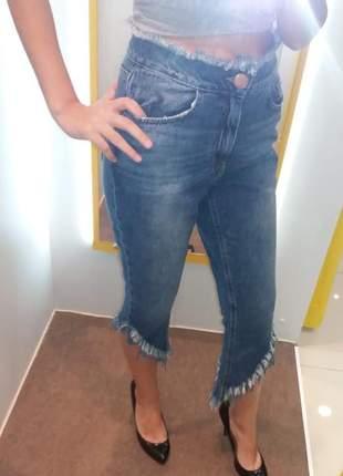 Calça jeans cigarrete confort jeanseria