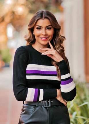 Blusa tricot bolt ave rara fashion