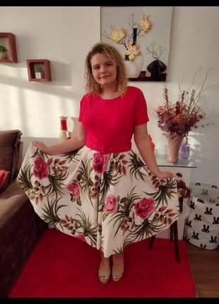 Vestido midi roupas femininas moda evangelica