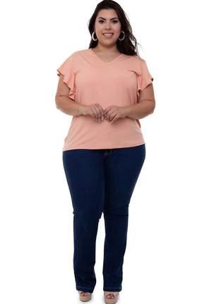 Blusa plus size pilar rosa claro