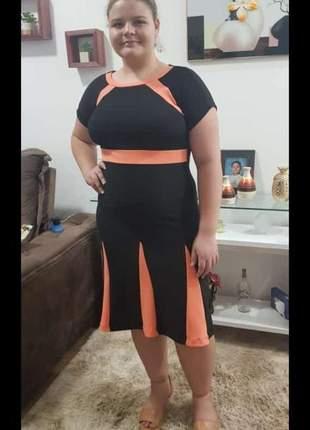 Vestido evangelico moda evangélica /plus size / crepe malha / moda feminina