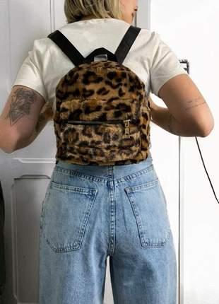 Mini mochila de pelúcia