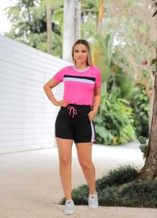 Conjunto de shorts e blusa de moletinho viscose