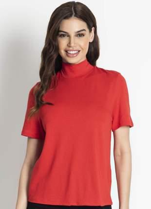 Blusa gola alta feminina vermelho 9165251567