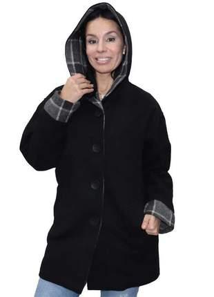 Casaco lã com capuz monacri