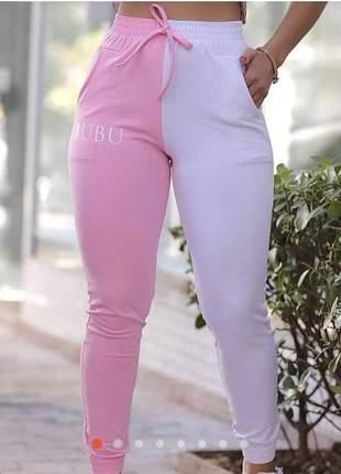 Loucura calça estilo jogger tendência na moda bubu duas cores cod.zg