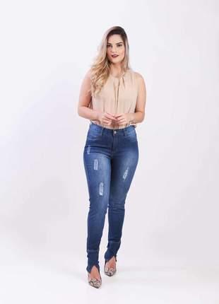 Calça jeans elastano feminina skinny alta 2111202