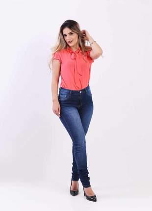 Calca jeans elastano feminina  super skinny alta 2111204