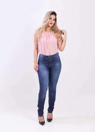 Calca jeans elastano feminina skinny alta 2111205