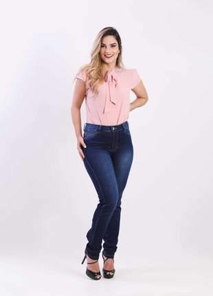 Calca jeans elastano feminina skinny alta 2111214