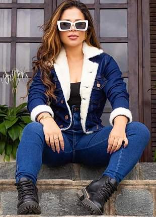 Jaqueta jeans preta pink