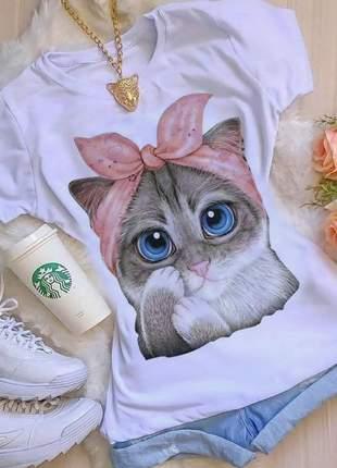 Camiseta tshirts gatinha