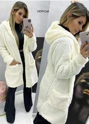 Loucura para o inverno o casaco mais esperado teddy forrado e muito quentinho