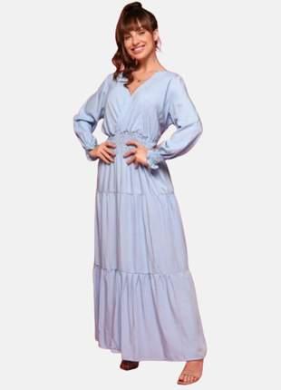 Vestido longo manga longa