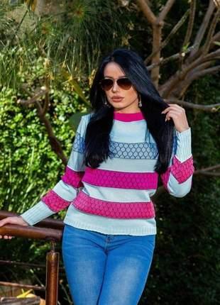 Blusa de frio  tricot feminina frio outono inverno alta qualidade lançamento