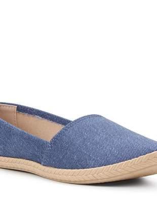 Alpargatas jeans escuro feminina moleca 5287210
