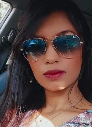 Óculos de sol ray-ban aviador unissex