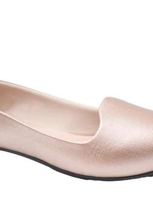 Sapatilha feminina rosa gold moleca 5635116