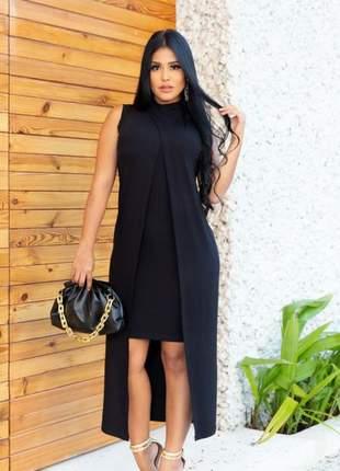 Vestido luxo sobreposição