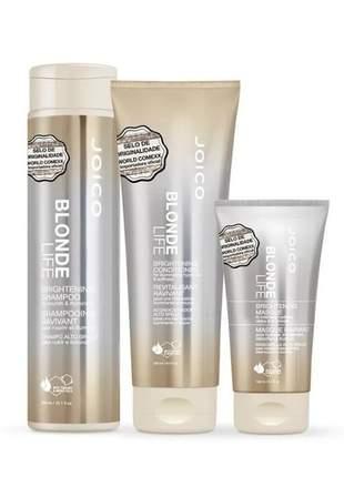 Kit joico blonde life iluminador - para cabelos loiros (3 produtos)
