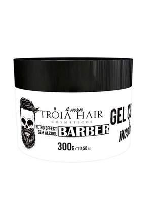 Gel cola incolor tróia hair 300g