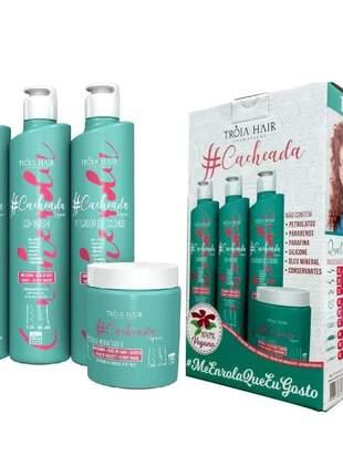 Kit cacheada troia hair ( 4 itens )