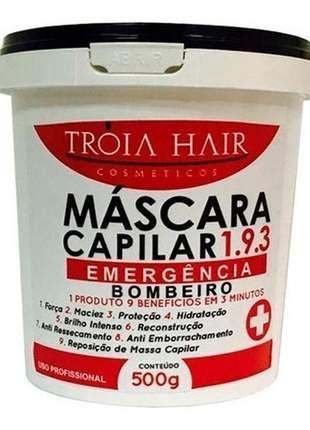 Máscara reparadora 193 emergência bombeiro troia hair 500g