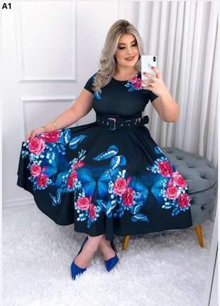 Vestido gode midi moda evangélica