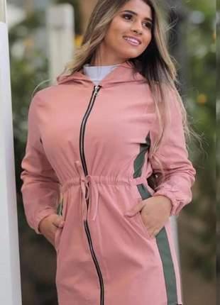 Parka jaqueta bengaline feminina manga longa