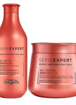 Kit l'oréal professionnel inforcer home care shampoo + máscara