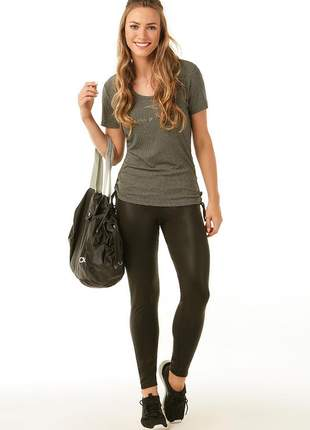 Legging glossy com bolso - alto giro