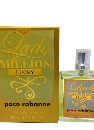 Perfume feminino importado lady million lucky paco rabanne linha premium