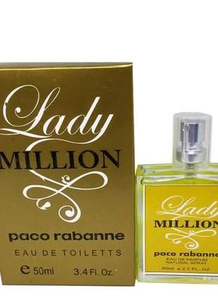 Perfume feminino importado lady million paco rabanne linha premium
