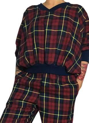 Blusa xadrez vermelha loy