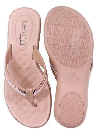 Chinelo nude/ouro rosado feminino beira rio 8224804n