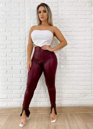 Calça legging cirrê disco com ziper cintura alta + brinde102