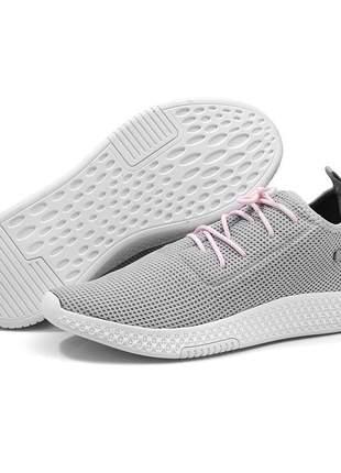 Tênis feminino jogging casual leve e confortável