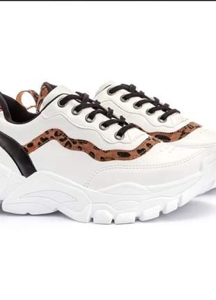 Sneaker tênis chunky feminino blogueira flatform onça