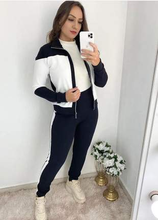 Conjunto de calça e blusa com zíper
